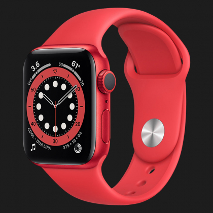 Apple Watch Series 6 44MM Red Aluminum Case with Sport Band