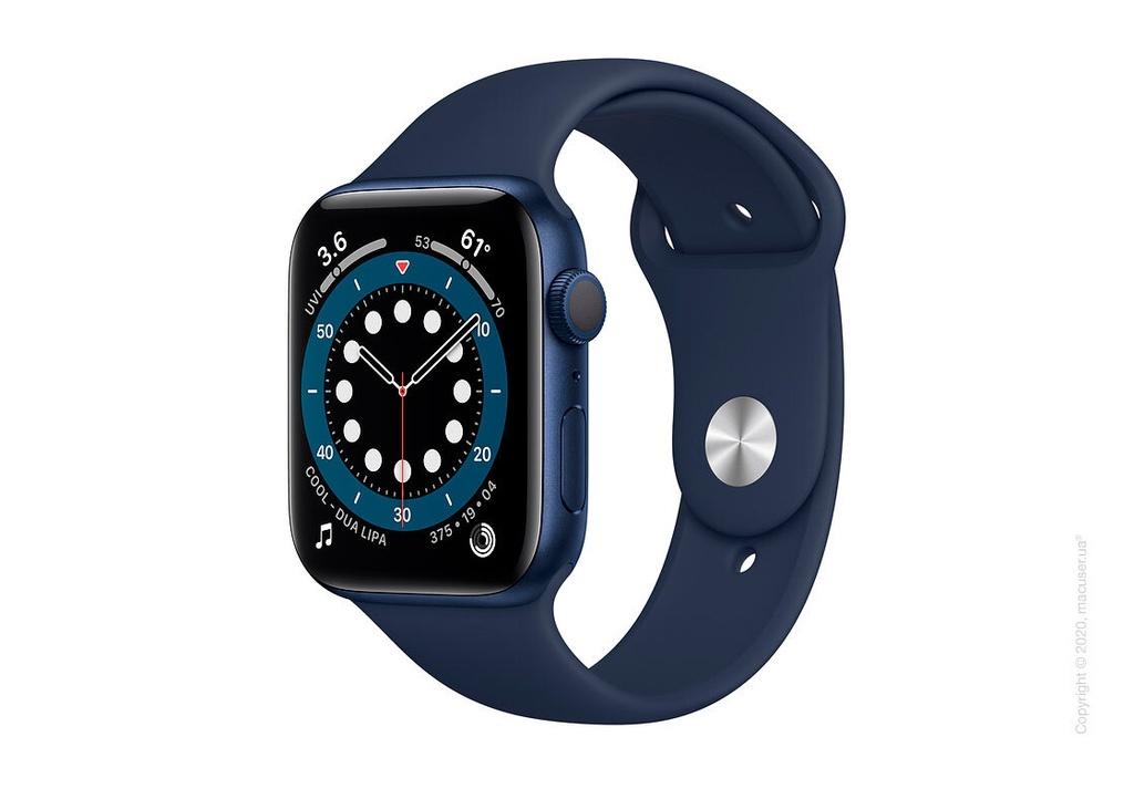 Apple Watch Series 6 44MM Blue Aluminum Case with Sport Band