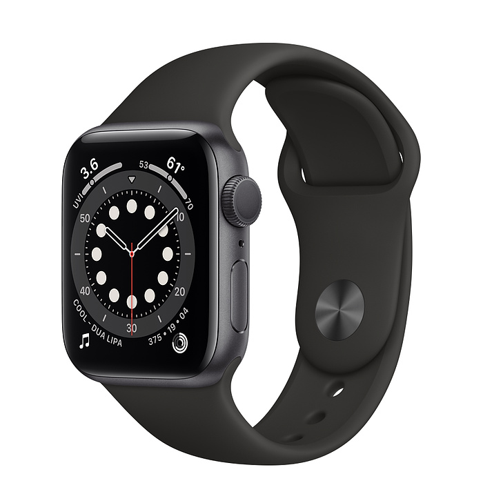 Apple Watch Series 6 40MM Space Gray Aluminum Case with Sport Band