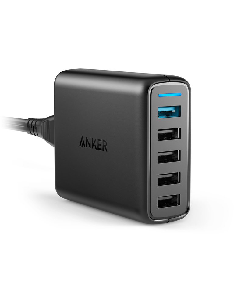 Anker PowerPort Speed 5 with Dual Quick Charge 3.0 - Black